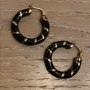 Black Gold Small Hope Earrings